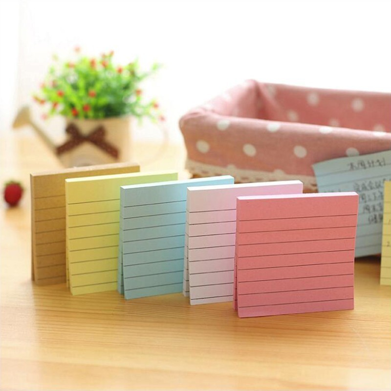 Self-adhesive Stickers Horizontal Line Sticky Notes Memo Pads Stickers Office Stationery And School Supplies 30 Pages/1PC