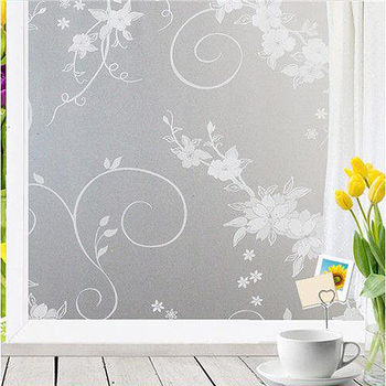 90*400 cm vinyl decorative window glass film for door bathroom,transparency privacy protective window cover,static self adhesive