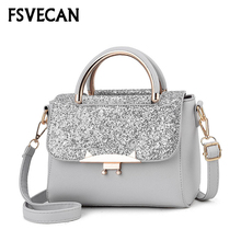 Korean Fashion Female Sequins Messenger Bags For Women 2019 Casual Crossbody Bag Summer Leather Small Ladies Party Hand New