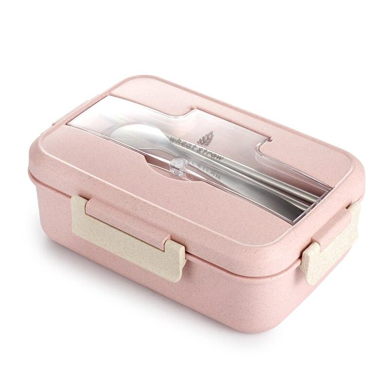 TUUTH micro-ondes boîte à déjeuner blé paille vaisselle alimentaire conteneur de stockage enfants enfants école bureau Portable Bento boîte
