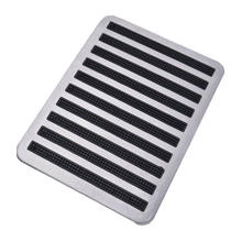 1PCS Stainless Steel+Rubber Floor Carpet Mat Patch Foot Heel Plate Pedal Pad For Car Auto Accessories Car Mats(China)