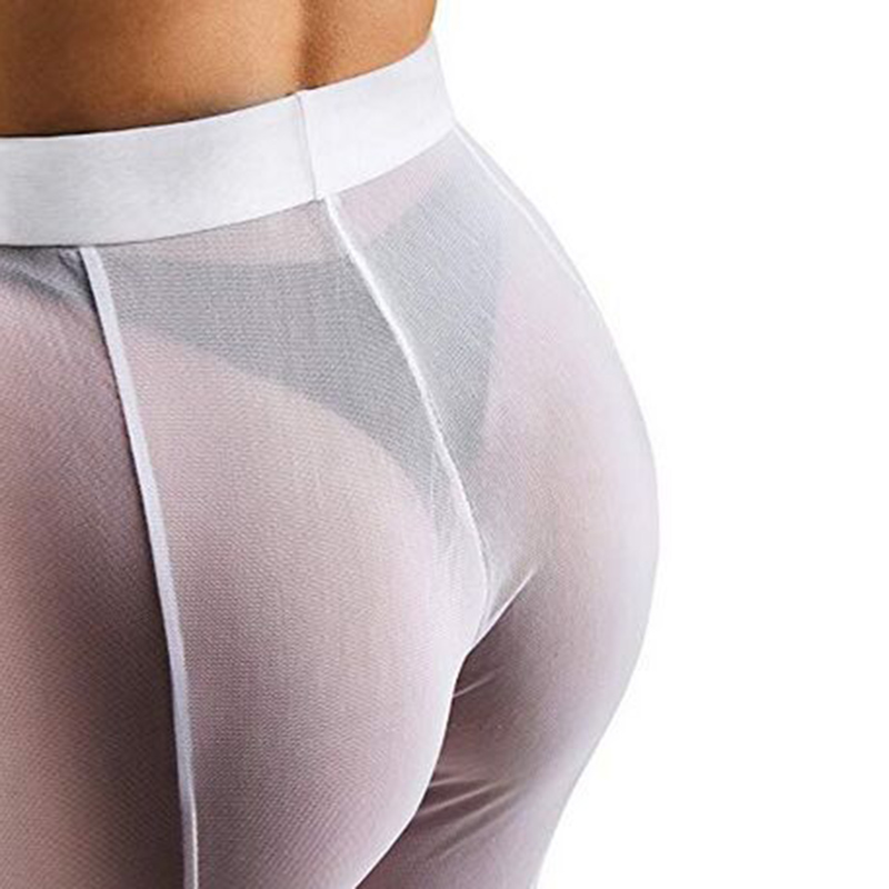 Sexy Women's Pants Flare   Leggings   Cover Up Mesh Transparent See Through Lingerie