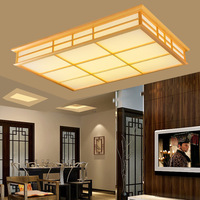 Japanese Style Delicate Crafts Wooden Frame Tatami Led Ceiling Lights Luminarias Para Sala Dimming Led Ceiling Lamp