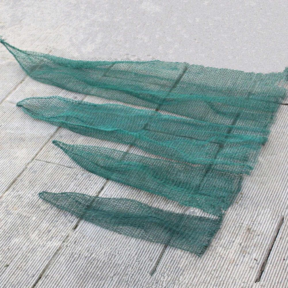 Nova Rede De Pesca 50/70/120/150 cm Malha Saco Verde Saco Gaiola de Peixe Enfrentar Pesca Landing enfrentar Ferramenta Acessório