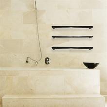 Купить с кэшбэком Matt Black color Fress spacing towel bar wall mounted tall rack dryer Polish Finish heated towel rail warmer HZ-923B