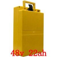 48 В 22ah литиевая батарея 48 В 22ah электрическая велосипедная батарея 48 в 1000 Вт скутер батарея с пластиковым чехлом с 54,6 в 2A зарядное устройство