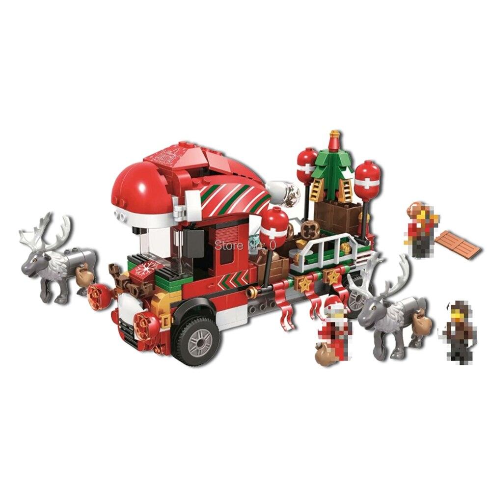 Dependable 11083 375pcs Advent Calendar Festival Snow Truck Elk Christmas Bela Building Block Bricks Toy Spare No Cost At Any Cost Model Building Blocks