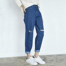 Jeans For Women Casual Ripped Hole Jeans Denim Pants 2019 Ankle-Length High Waist Loose Fashion Harem Pants Trousers недорго, оригинальная цена