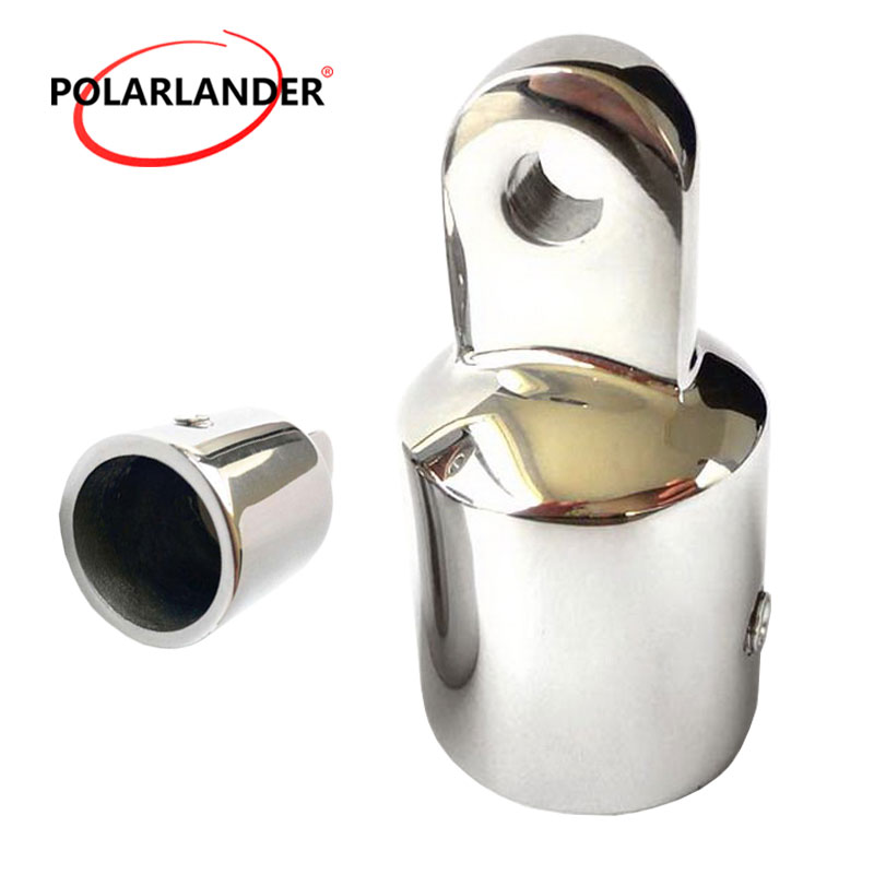 2019 Latest Design 1 Piece 1 Inch 25mm Umbrella Cap Aluminum Alloy Bimini Top Eye End Cap Stainless Steel Hardware For Marine Boat Yacht Marine Hardware