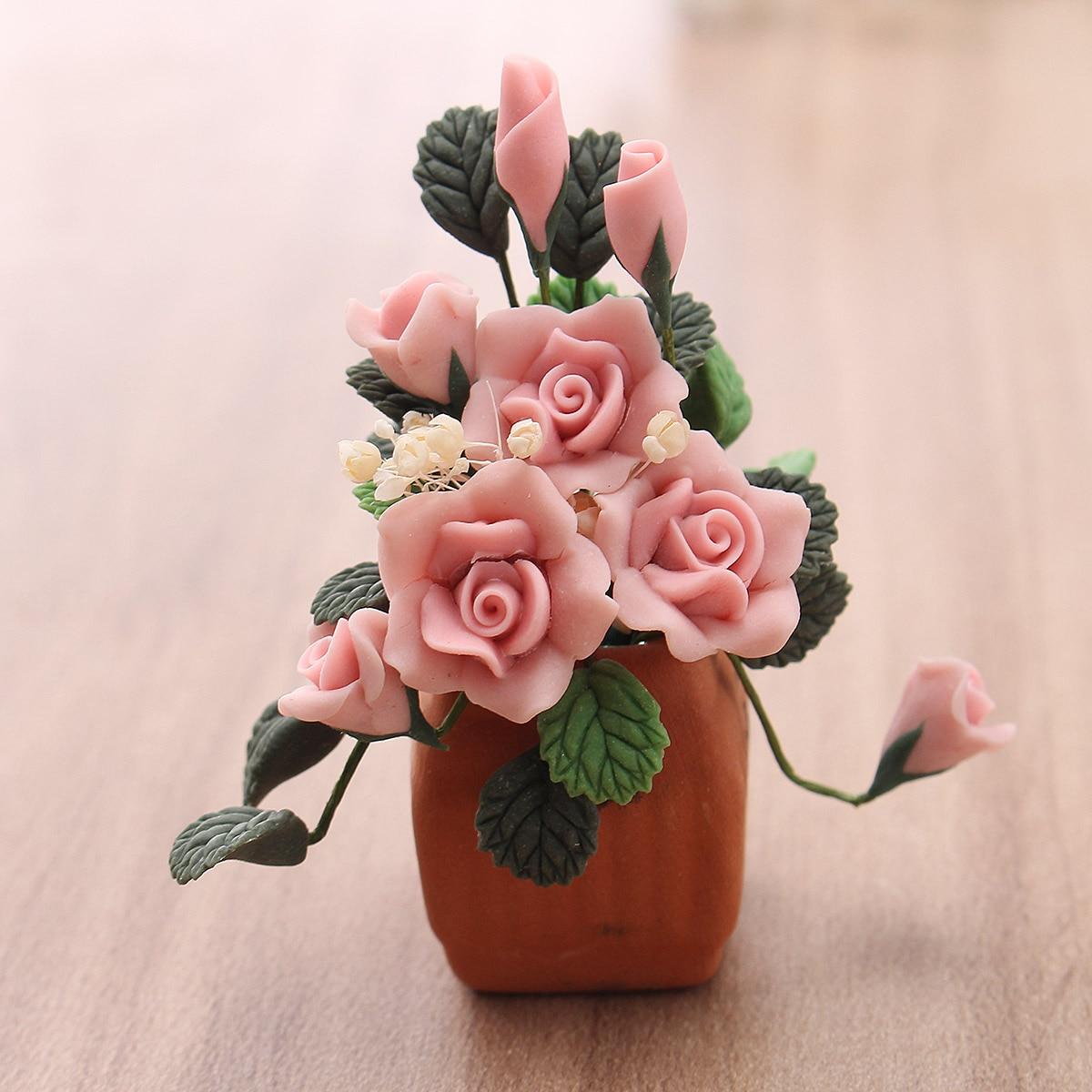 AliExpress & US $3.17 22% OFF|New Mini Pretty 1:12 Dollhouse Miniature Clay Flower Pot Model Handcrafted Home Room Garden Decor Ornament-in Figurines \u0026 Miniatures ...