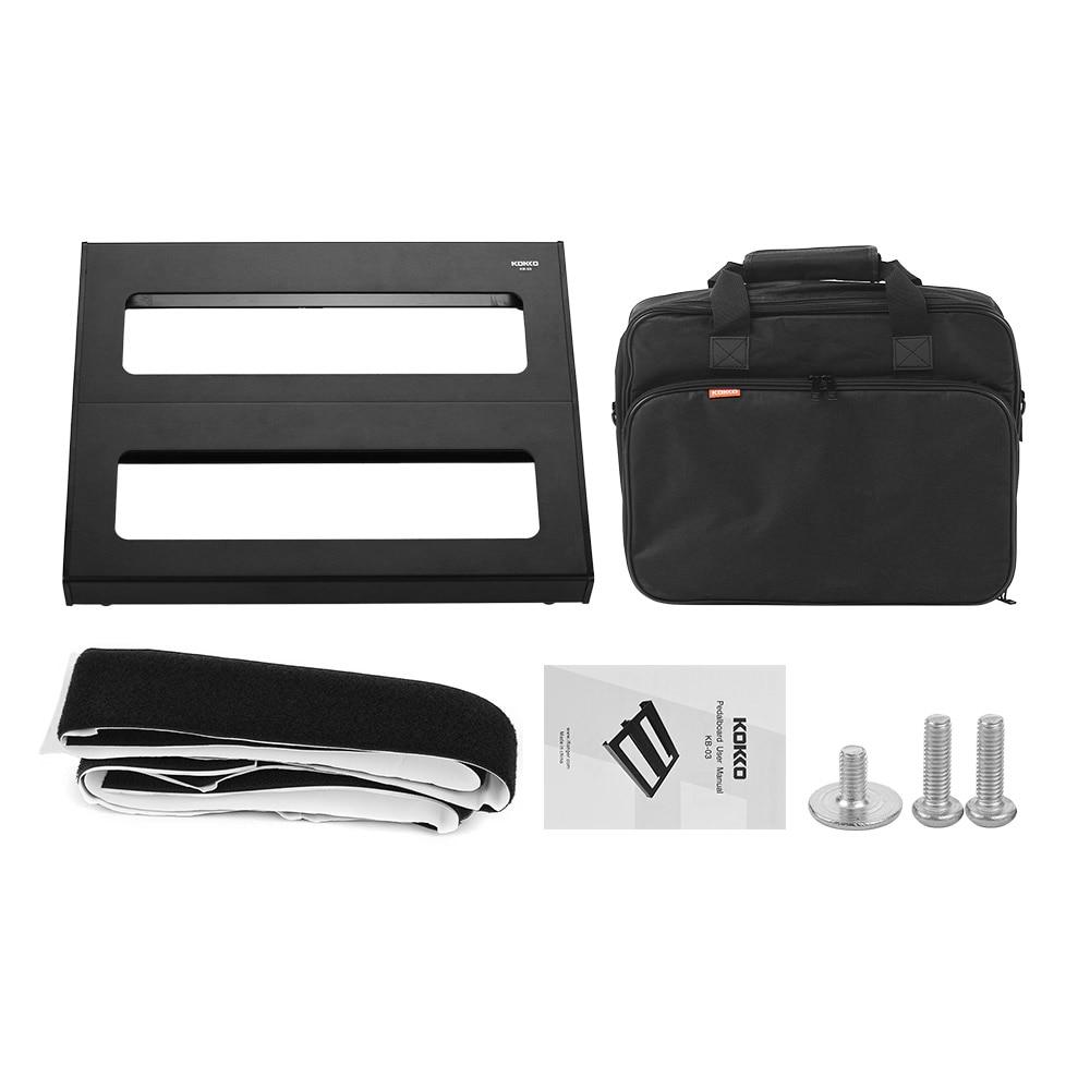 kokko kb 03 guitar effect pedal board guitar pedal pedalboard aluminum alloy with carry bag. Black Bedroom Furniture Sets. Home Design Ideas