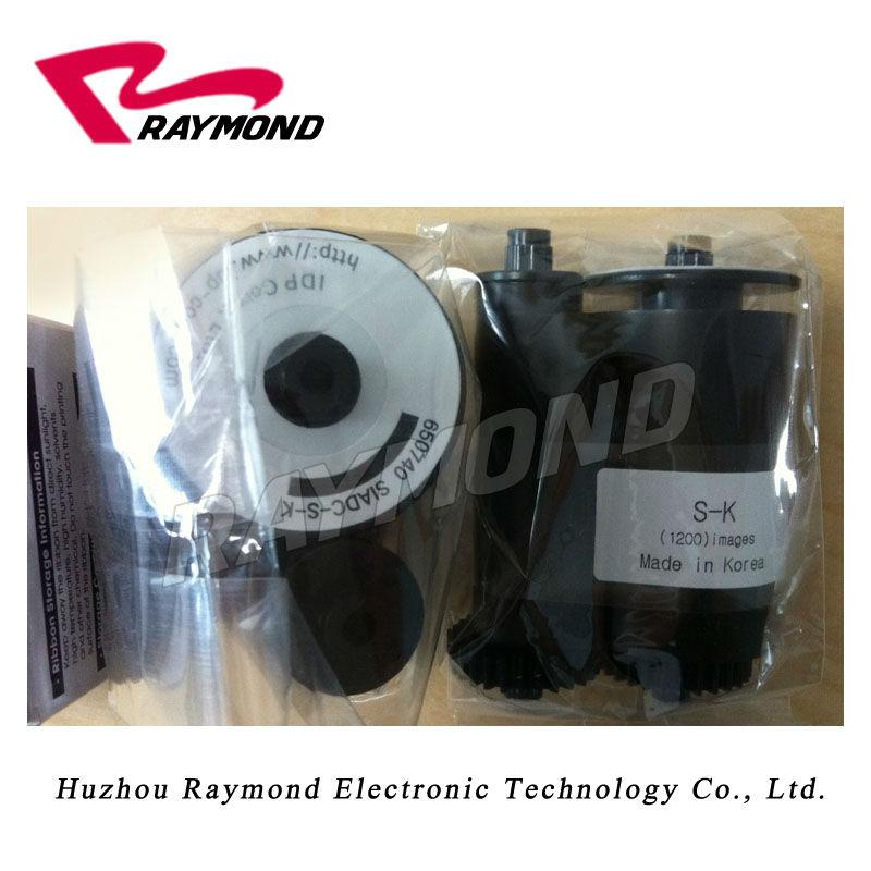 Корея IdP умный 650740 черная лента SIADC-S-K для использования с смарт-карт ID принтер-1200 отпечатков в рулоне