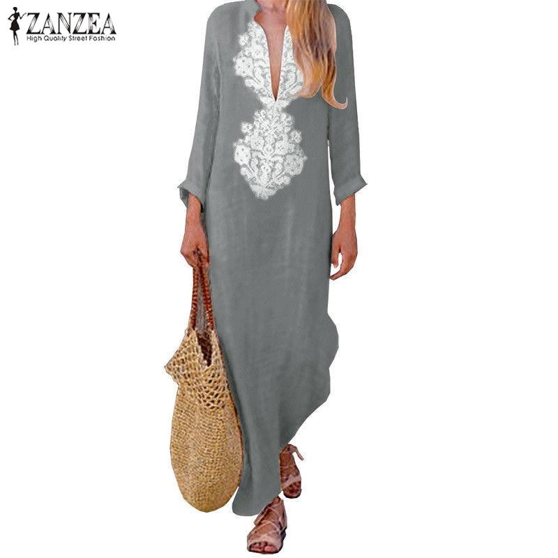 d4de8da67cb7838 4XL 5XL Большие размеры большие размеры женская одежда сексуальные макси  длинные летнее платье-туника сарафаны