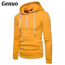 Genuo fashion Mens Hoodies pullovers hip hop sweatshirt slim fitness coat jacket casual zipper hooded pull chaquetas hombre