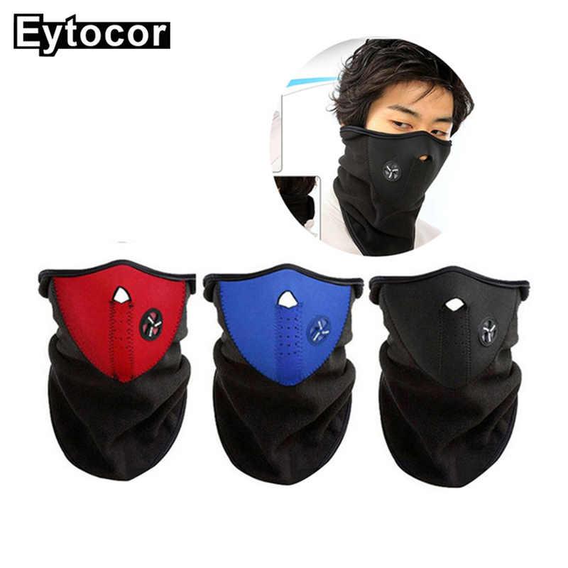 d7d1302f194 EYTOCOR Winter Warm Fleece Balaclavas Ski Cycling Half Face Mask Windproof  Bicycle Face Mask Snowboard Bike