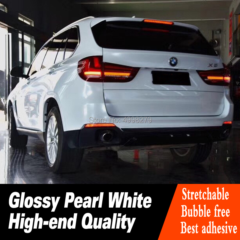 vinyl wrap 20m Glossy Pearl White foil Wrap Film White Pearl Gloss wrapping Non fading Support drop shipping