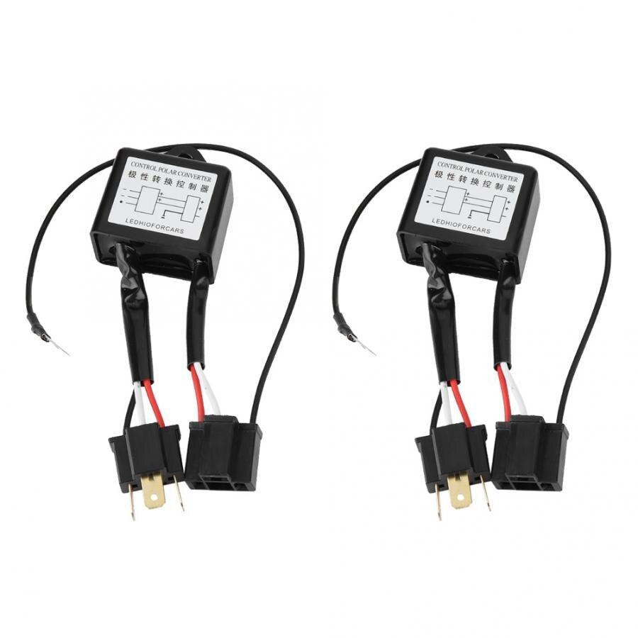 2 шт. светодиодный Полярный преобразователь отрицательного сигнала, адаптер для переключателя жгута с обратной полярностью для H4 аксессуар...