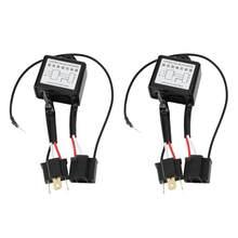 2 pçs led conversor negativo polar inversor negativo interruptor adaptador arnês invertido polaridade para h4 accessoire voiture novo