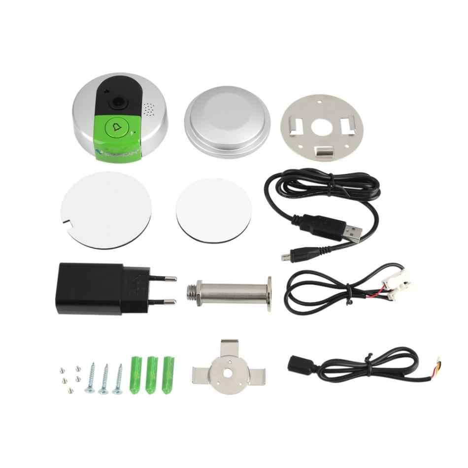 Бытовой умный Визуальный дверной звонок Wi-Fi 750 P HD Беспроводная визуальная камера Дверной замок ночного видения Домофон инструмент