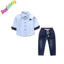 dfc42df611 2019 Baby Clothes Kids Boys Wedding Party Suit Top+Pants Tuxedo Outfits 1  Set Hot New