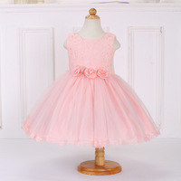 L 122 Europe and United States children's clothes Lace dress children Sleeveless rose princess