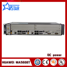 Hua wei GPON OLT 8 ports,DC power supply ,Mini OLT MA5608T,with one GPBD original sfp hua wei gpon olt class c optical module for gpbd gpfd