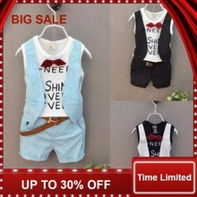 Cotton Kids Summer Baby Boy Set And Girl Character Clothes (Vest+Shorts) Cartoon Children Outfit Multi-Colors