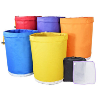 1 set 5 Gallon Filter Bag Bubble Bag Garden Grow Bag Hash Herbal Ice Essence Extractor Kit Extraction Bags with Pressing Screen