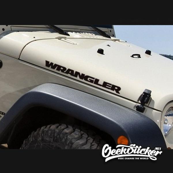 "Waterproof Reflective 2pcs Sport Engine Hood Fender Side""Wrangler"" Car Styling character sticker Decal Vinyl for Jeep Wrangler"