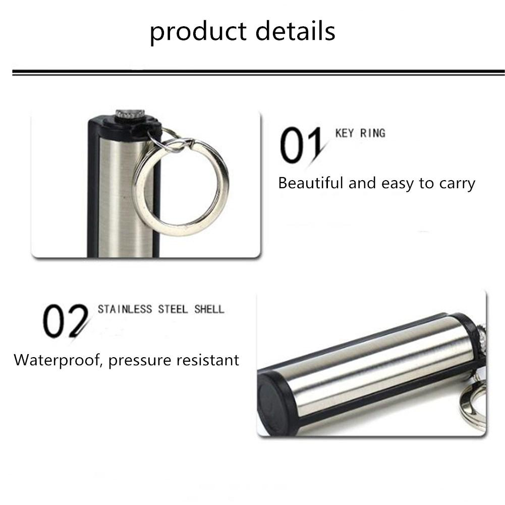 Stainless Steel Fire Starter Outdoor Camping Hiking Flint Survival