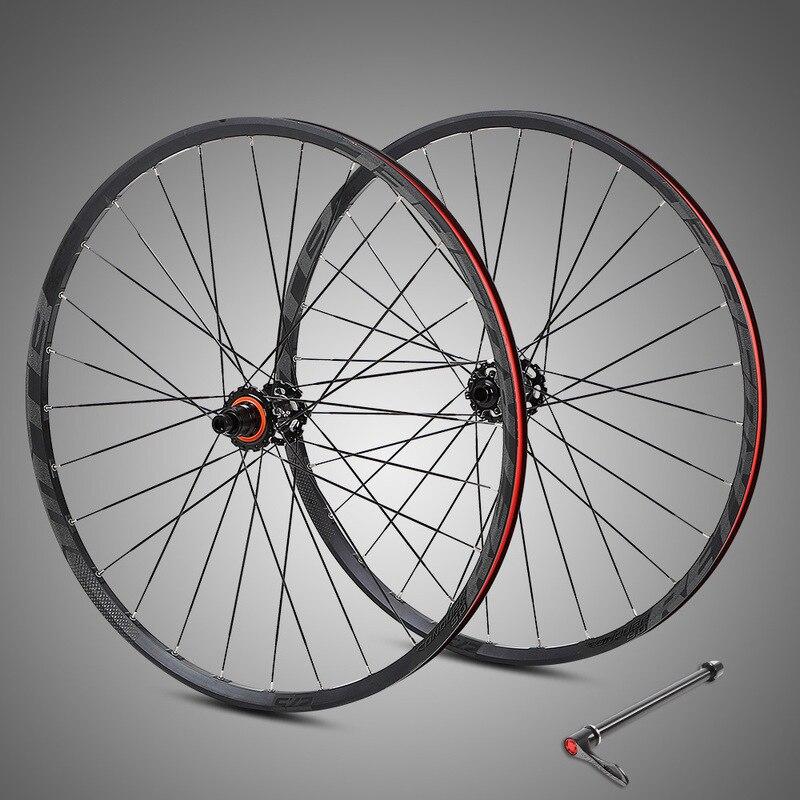 Fiber de carbone XD fleur tambour En alliage D'aluminium XC vtt BMX roues 27.5/29 pouces 15*100/12 * 142mm 4 Roulement Vélo Roues