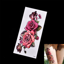 e725f63f8cc48 Cover Scar Rose Butterfly Fake Women Body Art Temporary Tattoo Sticker  Photography Studio Waterproof Body Decoration Wedding