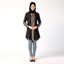 2019 high quality  Long Sleeve Caftan Arab Women Dress Turkey Dubai Style Middle East Muslim Above Knee Mini Fashion