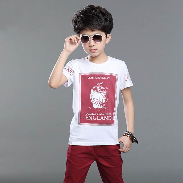 8885a91f6dd7 Kids Cloths Sets for Boy Short Sleeved T-shirt+pants Sport Sets Child s  Summer