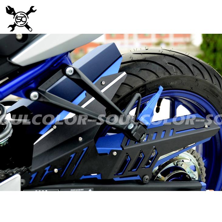 Fits For YAMAHA MT 03 MT03 MT-03 YZF R3 R25 2013-2015 2016 2017 2018 CNC Rear Fender Mudguard & Chain Guard Cover Kit YZF-R25