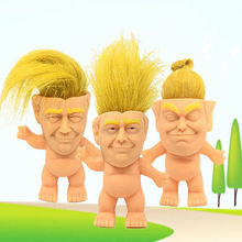 10 cm Funny toy Trump silicone troll doll  Vinyl Vintage Ugly Doll Toys funny Action Figures Model Toy