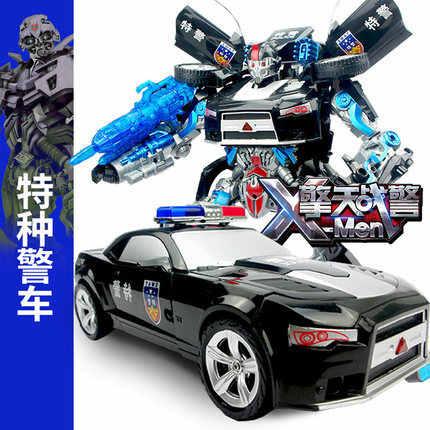 מגניב חשמלי שינוי רובוט רכב צעצועי צעצועים קלאסיים אנימה פעולה דמויות צעצועי ילד עיוות רובוט WB סגנון