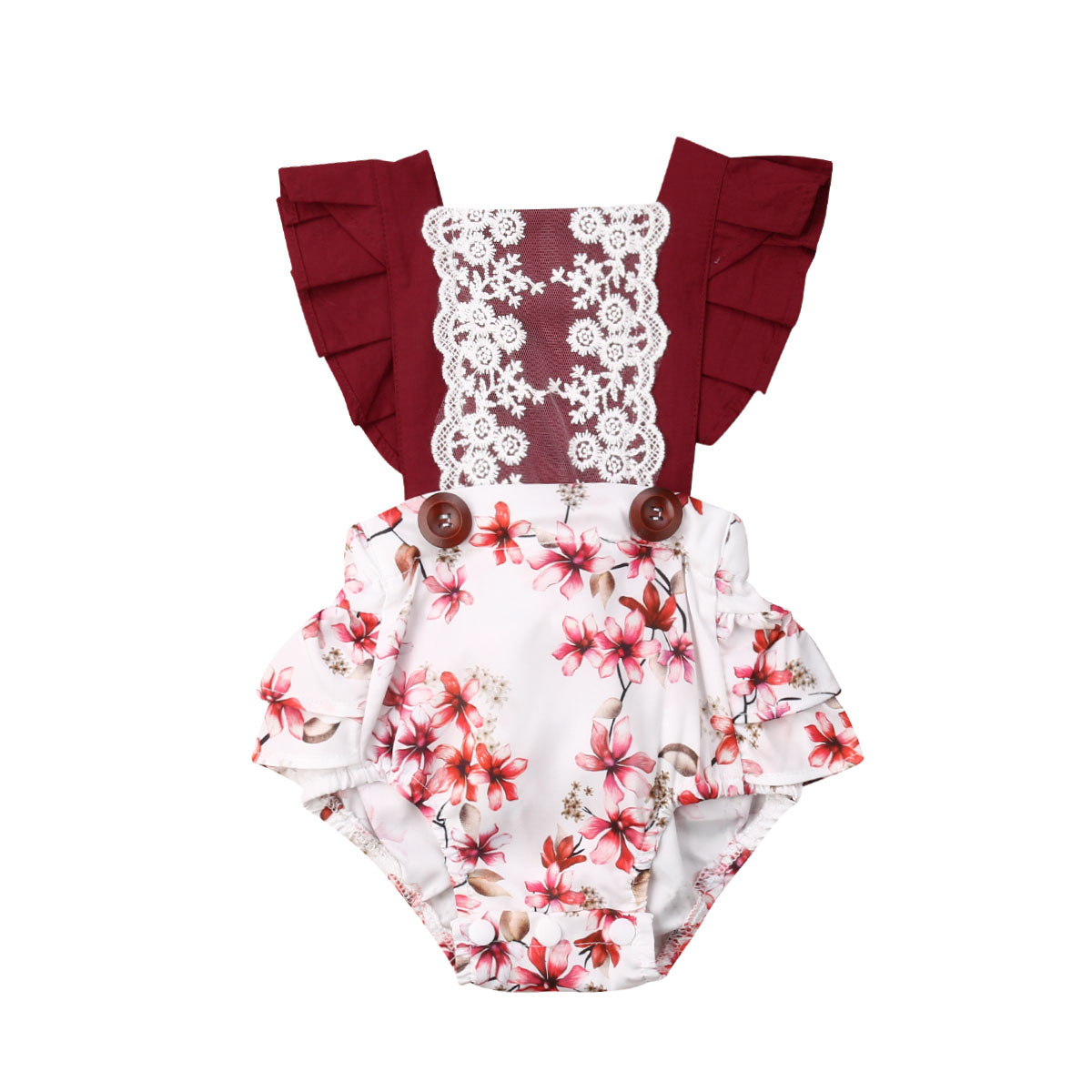 Toddler Baby Girl Floral   Romper   Floral Jumpsuit Sunsuit Summer Clothes Outfits