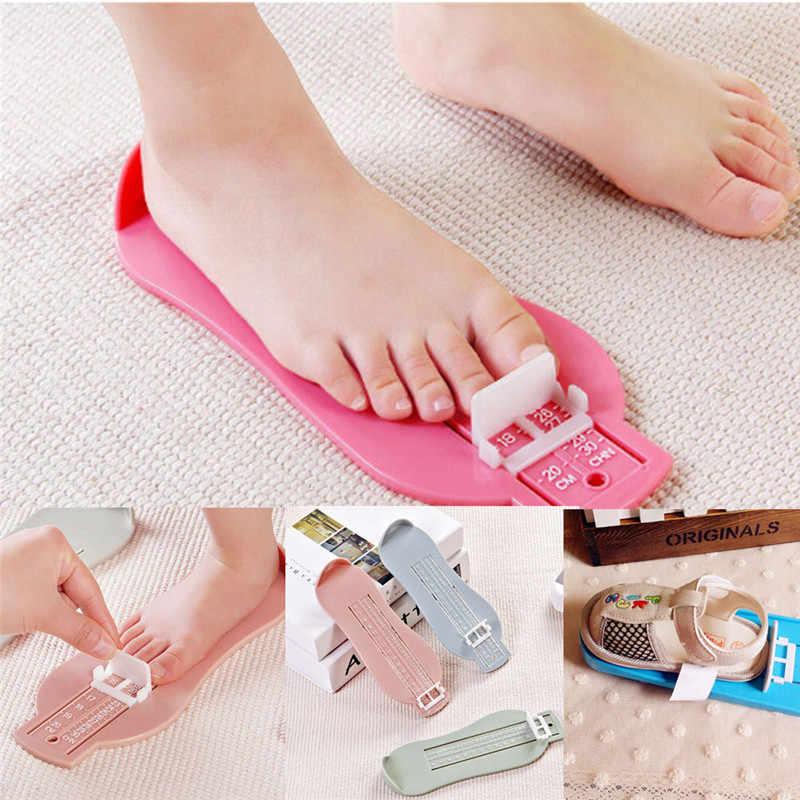 0-20 cm crianças bebê pé dispositivo de medição sapatos calibre régua para crianças medida footful sapatos tamanho em casa amarelo vermelho verde azul