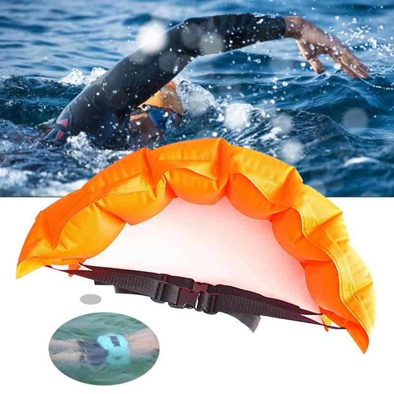 Cinto de natação inflável cinto flutuante composto pvc adulto crianças segurança natação acessórios nadar cinto de treinamento inclinado