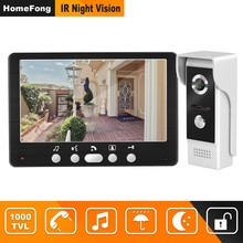 HomeFong Wired Deur Intercom Video Deurtelefoon met 1000TVL Deurbel Camera Ondersteuning Elektronisch Slot 7 inch Home Video Intercoms(China)