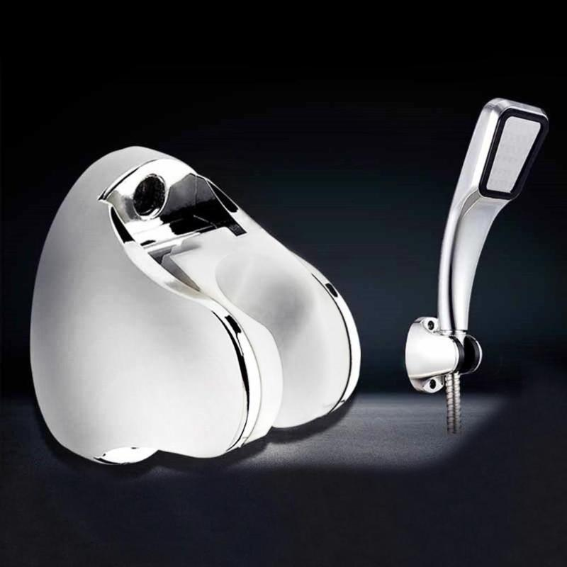Shower Head Holder Base Chromium Plating Adjustable Bathroom Shower Base Holder Wall Mount Bath Shower Head Stand Bracket
