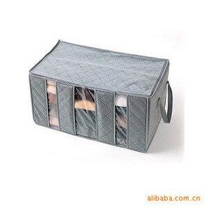 Image 3 - Carbone di Legna di bambù Può Prospettiva Tre Griglia di Abbigliamento di Viaggi Closet Organizer Uso Quotidiano Disposizione Scatola Accettare Sacchetto di Immagazzinaggio