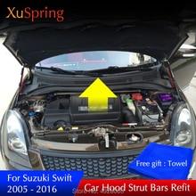 Per Suzuki Swift 2005-2019 auto cappuccio di copertura bar puntone ascensore idraulico di supporto asta di primavera staffa car styling accessori