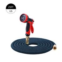25ft 50ft Expandable Garden Hose Sprayer With MADE IN USA Inner Tube Heavy Duty Expandable Pipe Flexible Watering Hose Set