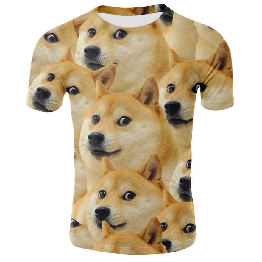 3D Собаки Футболка с принтом Мужская, с коротким рукавом, футболка в стиле «хип-хоп», топы 3D животных, с рисунком собачки, футболка с круглым вырезом летние Футболки одежда для пребывания на открытом воздухе