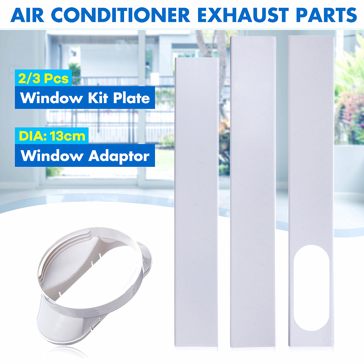New 190cm Adjustable Window Adaptor/Window Slide Kit Plate Exhaust Hose Tube Connector For Portable Air Conditioner AccessoriesNew 190cm Adjustable Window Adaptor/Window Slide Kit Plate Exhaust Hose Tube Connector For Portable Air Conditioner Accessories