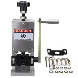 Hand Control Wire Cable crimping machine and peeling  Machine For metal Wire Recycle Wire Cable Stripper Stripping Cutting