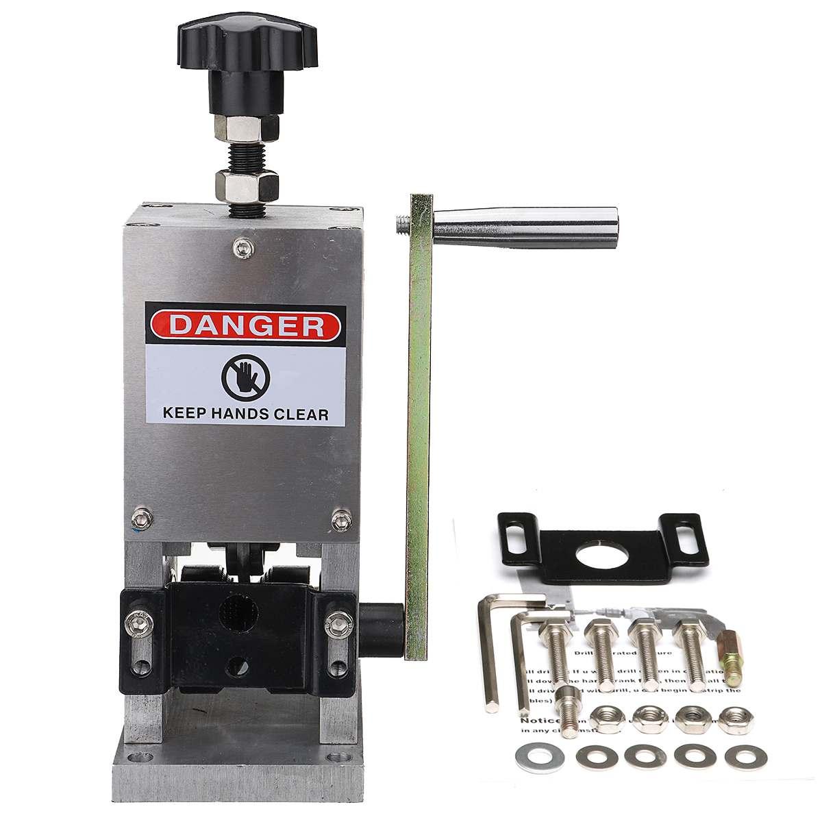 Máquina de friso do cabo de fio do controle da mão e máquina de peeling para o fio de metal