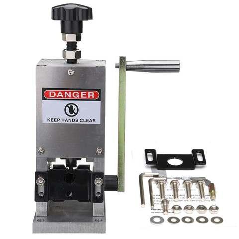 maquina de friso do cabo de fio do controle da mao e maquina de peeling